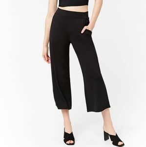 NWT Forever 21 Black Knit Gaucho Pant